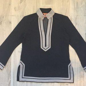 Tory Burch long sleeve trimmed tunic